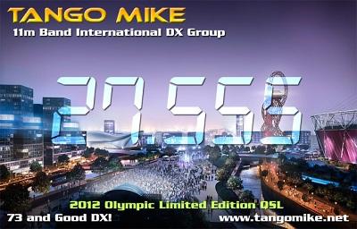 Tango Mike 2012 Olympic QSL Card